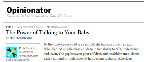 The Power of Talking to Your Baby