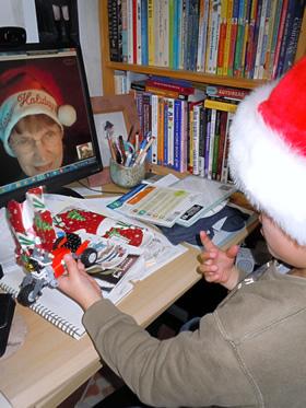 Christmas chat with Grandma.