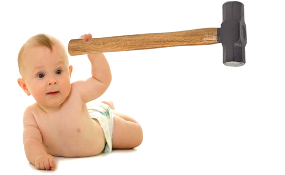 Babies and hammers