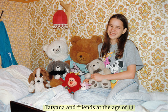 Tatyana and friends at the age of 11