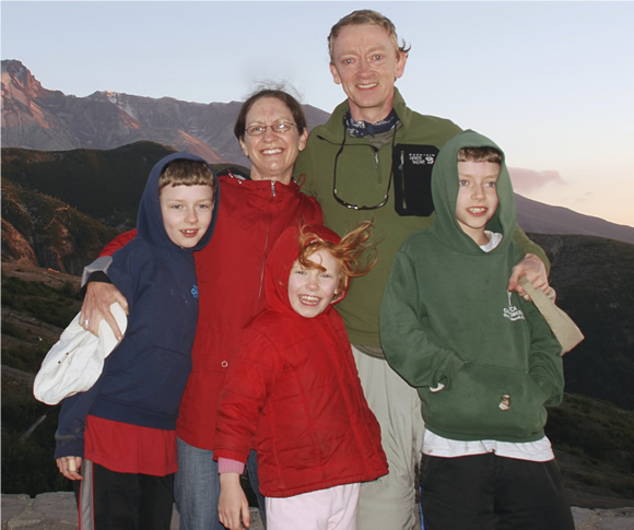 Corey Heller and her family