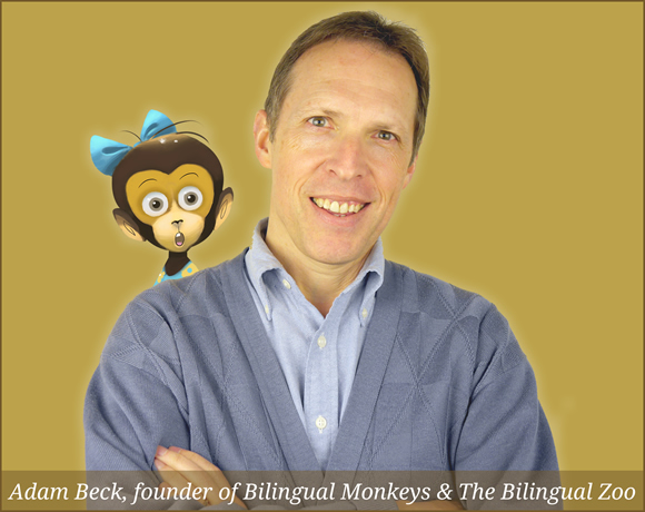 Adam Beck, founder of Bilingual Monkeys & The Bilingual Zoo