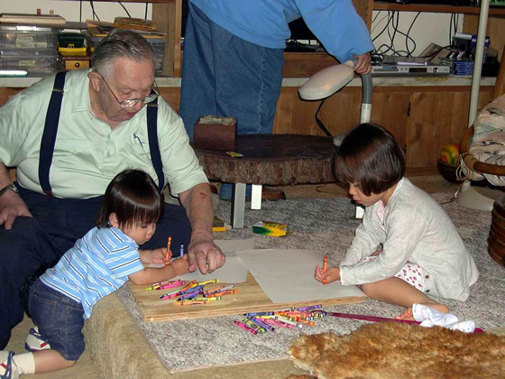 Bilingual Children and Distant Grandparents (Grandfather)