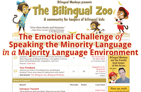 The Emotional Challenge of Speaking the Minority Language in a Majority Language Environment