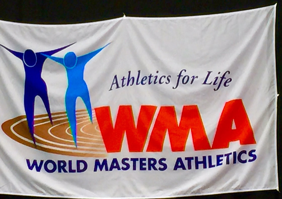 The World Masters Athletics flag