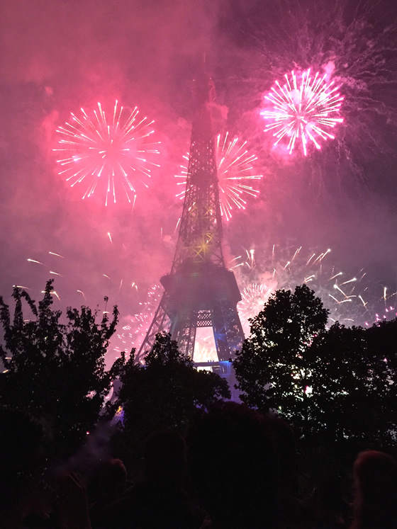 This year's unforgettable Bastille Day fireworks show at the Eiffel Tower
