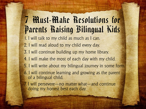 7 Must-Make Resolutions for Parents Raising Bilingual Kids