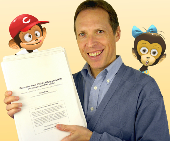 Adam Beck with the final manuscript