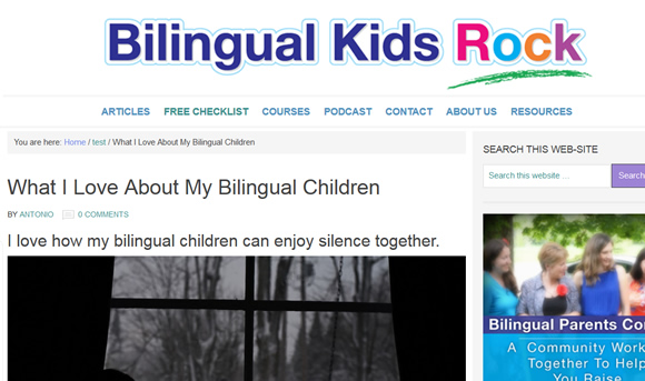 What I Love About My Bilingual Children