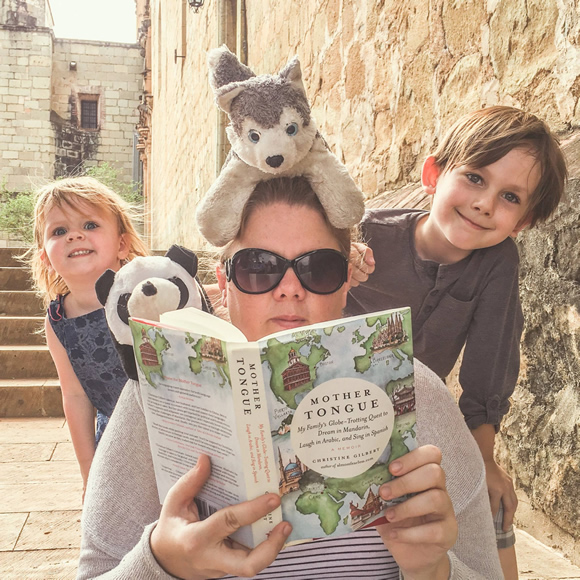 Author Christine Gilbert and friends