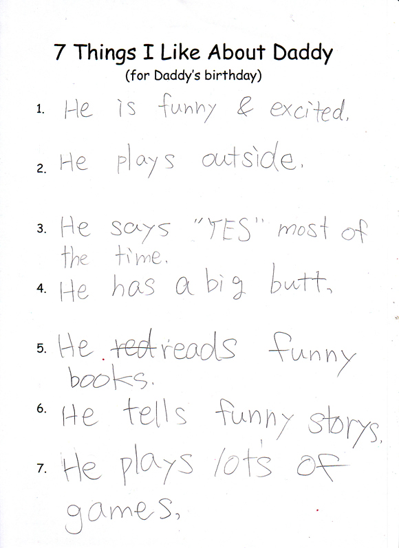7 Things I Like About Daddy