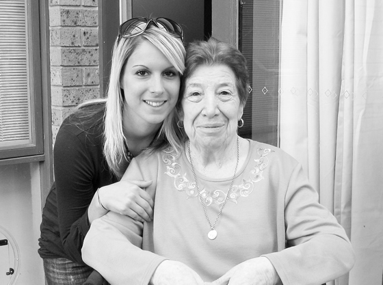Chontelle with her Italian grandmother