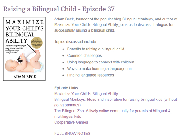 Listen to the Raising a Bilingual Child podcast episode at the Discovery Child Development Center website.