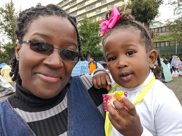 Tiara and her daughter