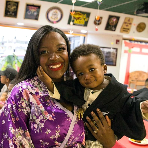 Tiara and her son
