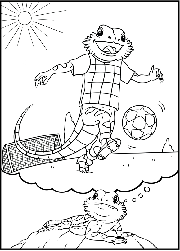 """Bearded Dragon Daydreams"" (soccer)"