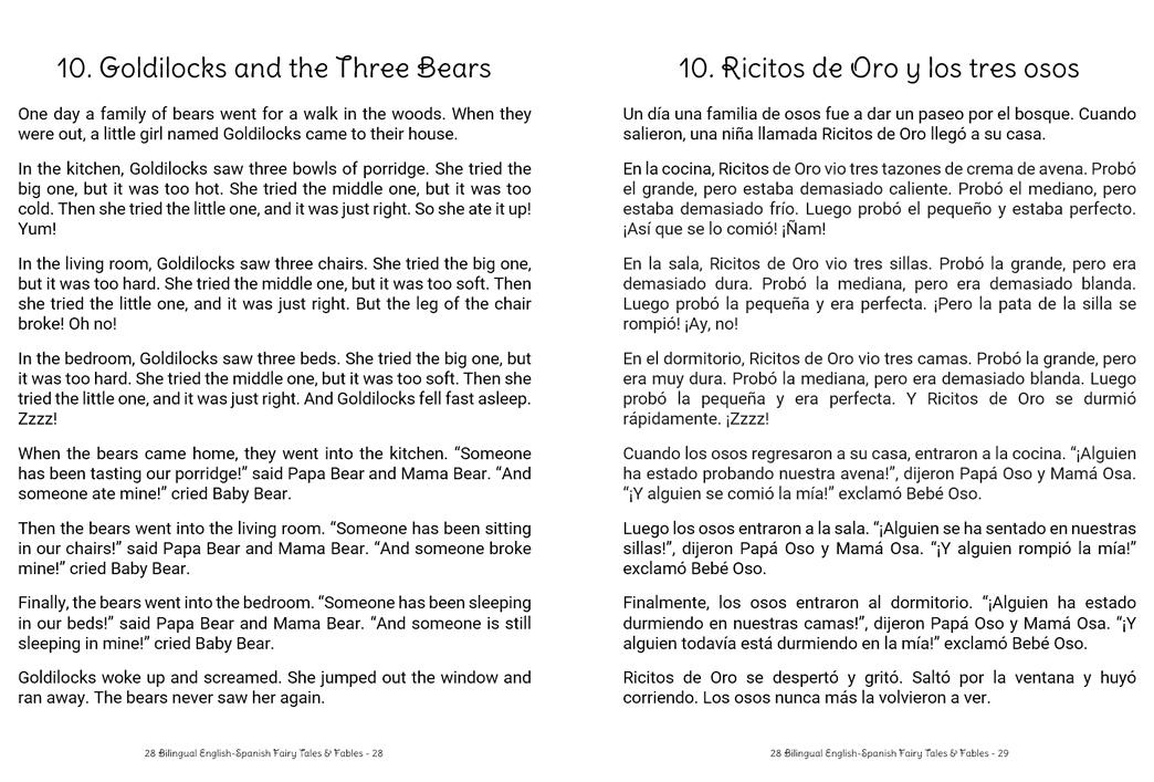 28 Bilingual English-Spanish Fairy Tales & Fables