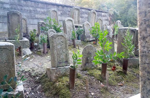 Fading gravestones