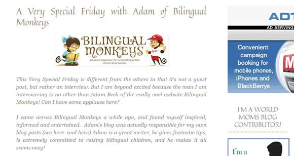 Bilingual Monkeys at The European Mama