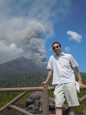 Sakurajima rumbles behind me.