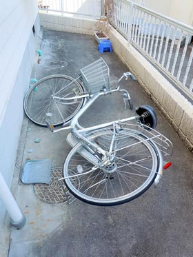 Who pushed over my bicycle?