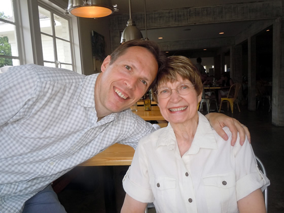 My mother and I during my family's visit to the U.S. in June 2013.