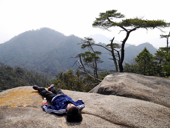 At the top of Mt. Misen