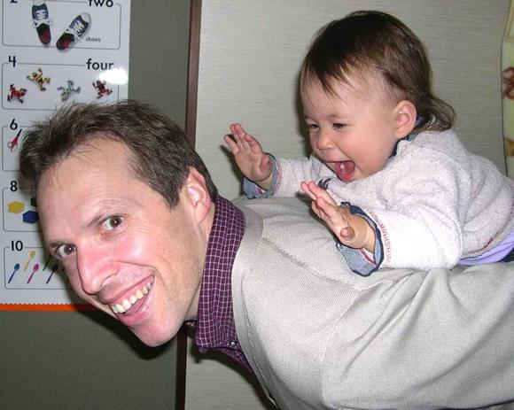 The pure joy of piggyback rides.
