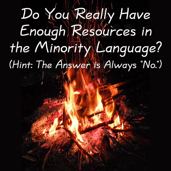 """Do You Really Have Enough Resources in the Minority Language? (Hint: The Answer is Always """"No."""")"""