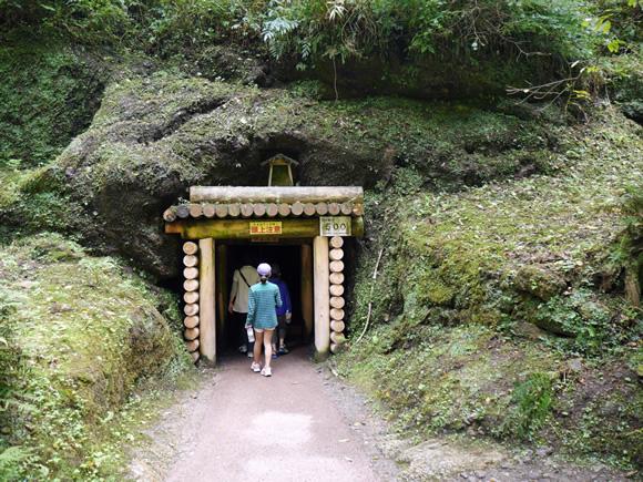 Entrance to old mine shaft