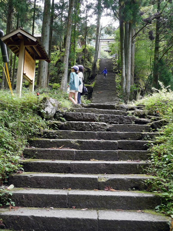 Steps to an old temple