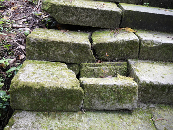 Crumbling stone steps