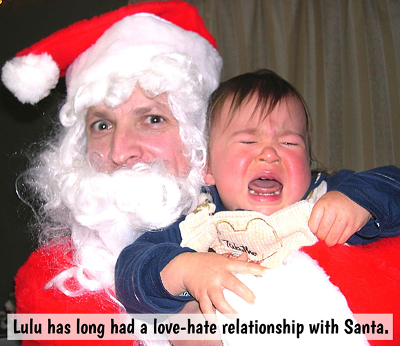 Lulu has long had a love-hate relationship with Santa.