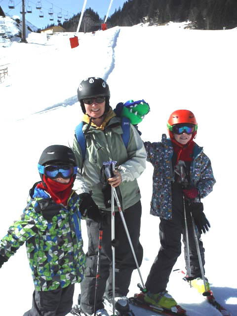 AUSTRIA: And they took me skiing with them, too!
