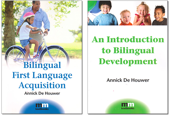 Books on bilingual acquisition by Annick De Houwer