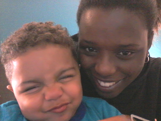 Llacey and her son Cavanaugh