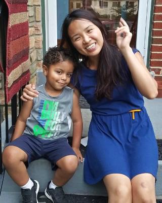 Cavanaugh and his Chinese language tutor
