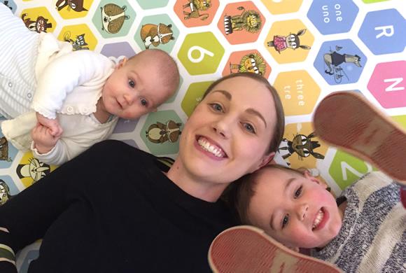 Alex and her children