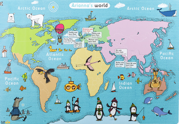 Personalized map of the world
