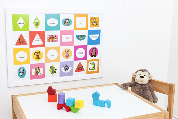 Lil'ollo shapes poster