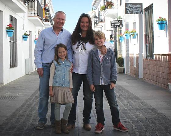 Lisa Sadleir and her family