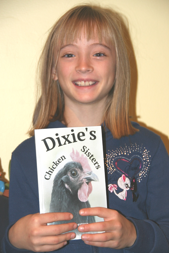 Zita with her book Dixie's Chicken Sisters