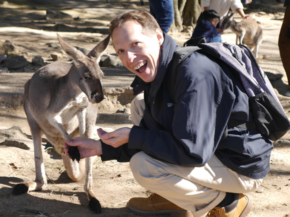 Look! I'm Shaking Hands with a Kangaroo!
