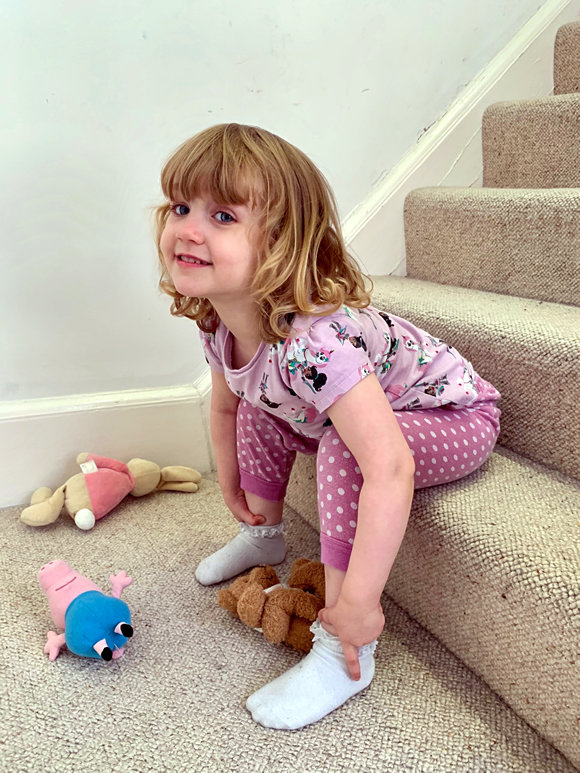 3-year-old girl in England