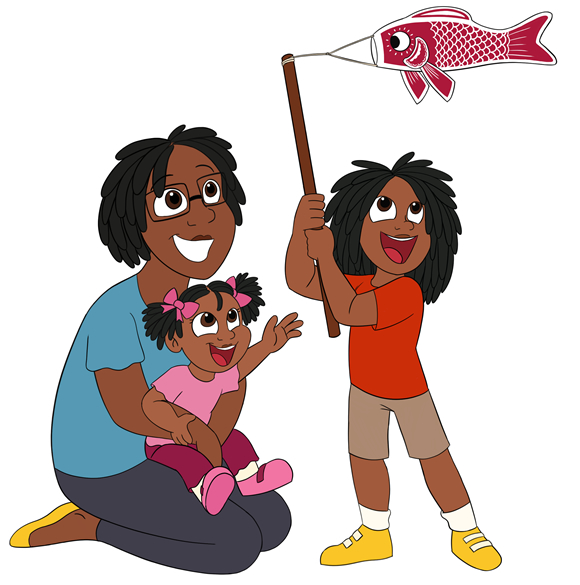 Tiara and her kids