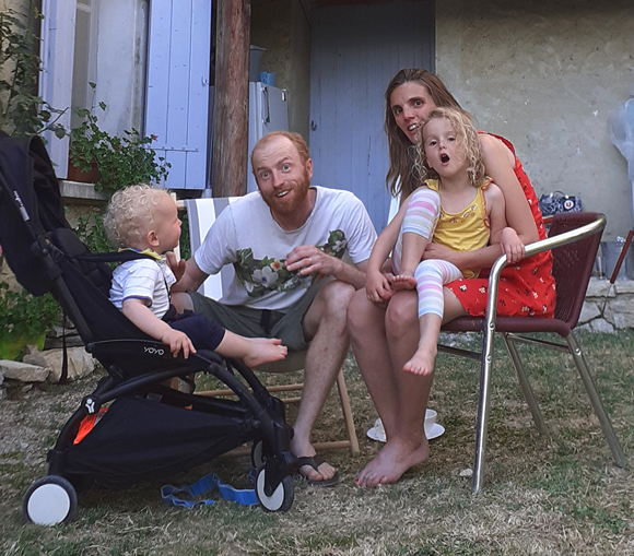 Mark and his family