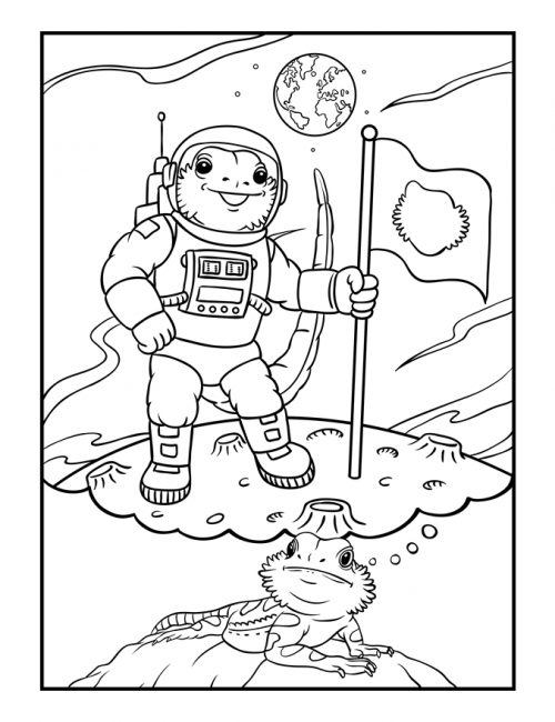 Bearded-Dragon-Daydreams-Coloring-Book_astronaut