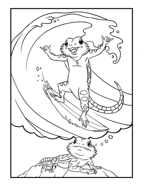 Bearded-Dragon-Daydreams-Coloring-Book_surfing