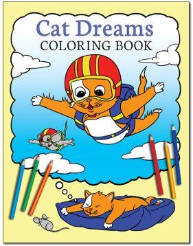 Cat Dreams Coloring Book